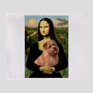 Mona / Norfolk Terrier Throw Blanket